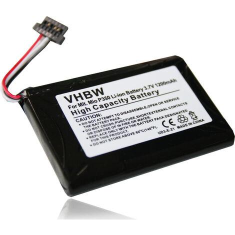 vhbw Li-Ion Battery 1200mAh (3.7V) suitable for MEDION MD PNA 3040, MD PNA 500T, NAVIGON Transonic 3040 replaces BPLP1200 11-B0001MX