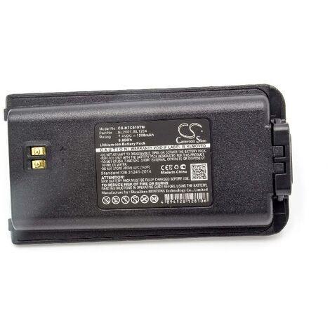 vhbw Li-Ion battery 1200mAh (7.4V) suitable for radio, walkie-talkie HYT / Hytera TC-610, TC-610P, TC-610S, TC-618, TC-620, TC-626