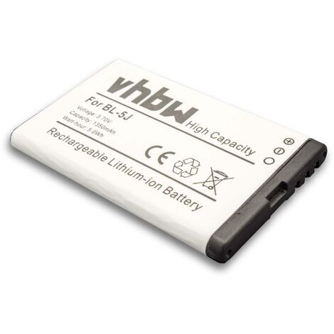 vhbw Li-Ion battery 1350mAh (3.7V) for Portable Bluetooth Speaker JBL Play Up, MD-51W as TM533855 1S1P.
