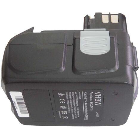 vhbw Li-Ion battery 2000mAh for power tool Hitachi DV 14DVA, DV 14DVKS, G 14DL, UB 18D, UB 18DL, WH 14D, WH 14DA as BCL1415, 327728, 327729.
