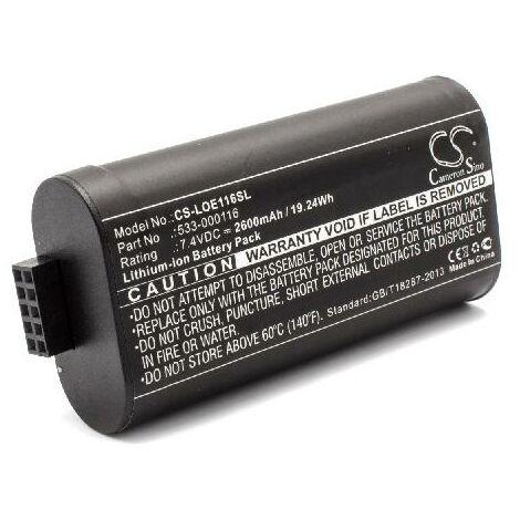 vhbw Li-Ion battery 2600mAh (7.4V) for speakers boxen replaces Logitech 533-000116
