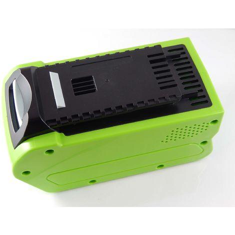 vhbw Li-Ion battery 3000mAh (40V) for power tool Greenworks lawnmower 45cm, hedge trimmers as 24252, 2601102, 29282, G-MAX 4 AH Li-Ion.