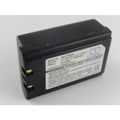 vhbw Li-Ion battery 3600mAh (3.7V) compatible with Symbol PPT2842, PPT2846, PPT284X, PPT28C6 barcode scanner, PDA, POS replacement for 20-36098-01.