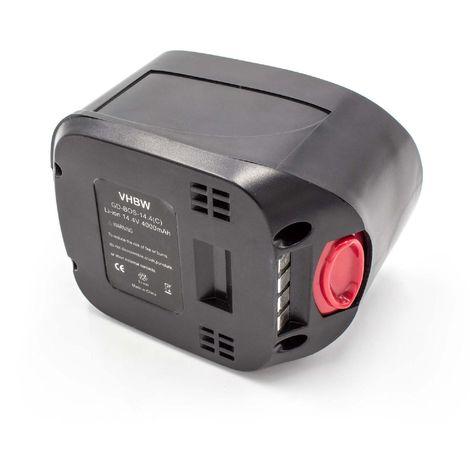 vhbw Li-Ion battery 4000mAh (14.4V) for electric power tools Bosch PSR 14.4 LI, 14.4 LI-2