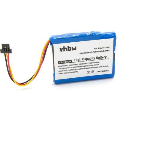 vhbw Li-Ion battery 900mAh (3.7V) for GPS navigation system sat nav replaces TomTom VFA