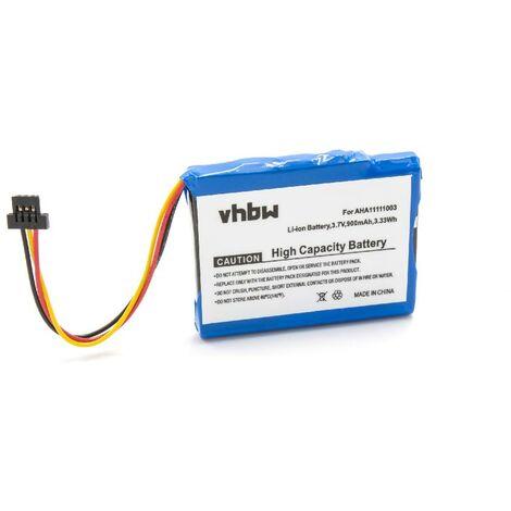vhbw Li-Ion battery 900mAh (3.7V) for GPS navigation system sat nav TomTom Via 1605