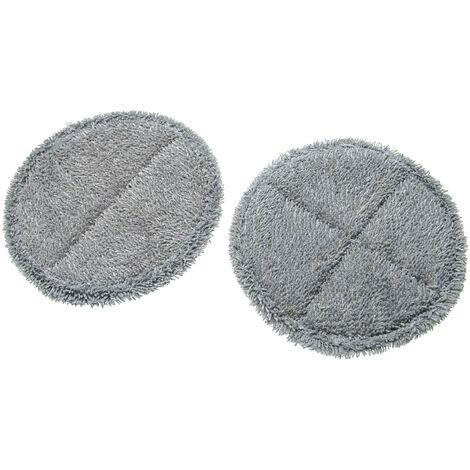 vhbw Lot de 2 lingettes compatible avec Dyson V10, V11 buse de sol, balai brosse électrique d'aspirateur à batterie - Lingette tampon