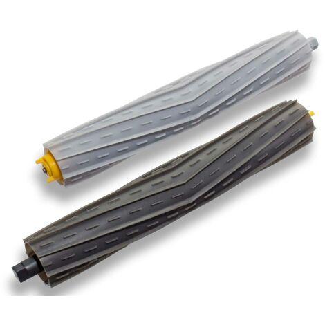 vhbw Lot de brosses d'extraction pour aspirateur, brosse en caoutchouc compatible avec iRobot Roomba 900, 960, 980.