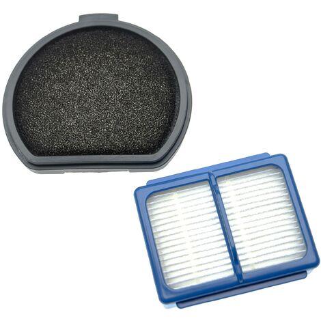 vhbw Lot de filtres compatible avec AEG ASKQX9, QX9, QX9-1-40GG, QX9-1-ALRG aspirateur - 2x Filtres de rechange (filtre principal, préfiltre)