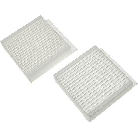 vhbw Lot de filtres compatible avec Zehnder Climos 200 appareil de ventilation - Filtre à air M5 / F7 (2 pcs), 17 x 17 x 9 cm, blanc