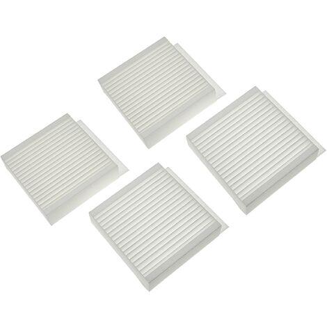 vhbw Lot de filtres compatible avec Zehnder Climos 200 appareil de ventilation - Filtre à air M5 / F7 (4 pcs), 17 x 17 x 9 cm, blanc
