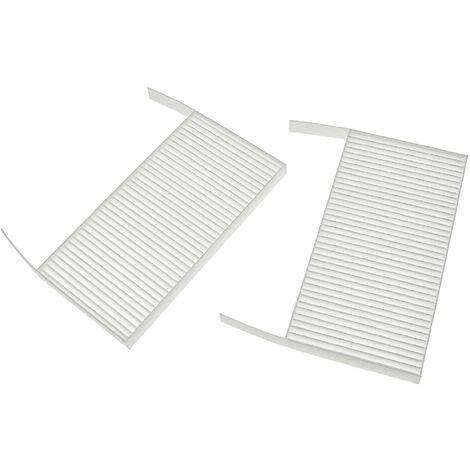 vhbw Lot de filtres compatible avec Zehnder ComfoAir 70 appareil de ventilation - Filtre à air G4 / F7 (2 pcs), 19 x 10 x 3 cm, blanc