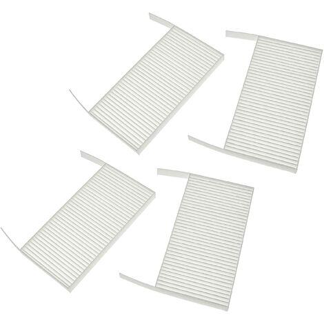 vhbw Lot de filtres compatible avec Zehnder ComfoAir 70 appareil de ventilation - Filtre à air G4 / F7 (4 pcs), 19 x 10 x 3 cm, blanc