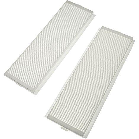 vhbw Lot de filtres compatible avec Zehnder ComfoAir Q 600 appareil de ventilation - Filtre à air G4 / F7 (2 pcs), 50 x 16 x 4 cm, blanc