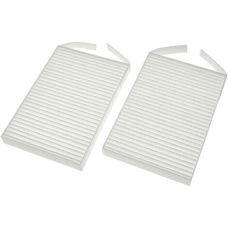 vhbw Lot de filtres compatible avec Zehnder ComfoSpot 50 appareil de ventilation - Filtre à air G4 / F7 (2 pcs), 18 x 12 x 4 cm, blanc
