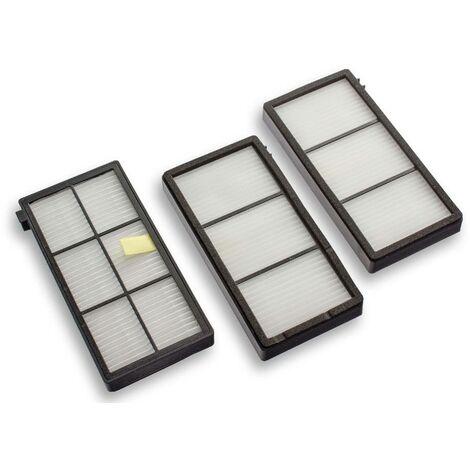 vhbw Lot de filtres de rechange Hepa allergie compatible avec iRobot Roomba 900, 960, 980.