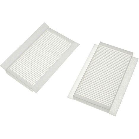 vhbw Lot de filtres remplacement pour Zehnder 400100091 pour appareil de ventilation - Filtre à air G4 / F7 (2 pcs), 24 x 12 x 5 cm, blanc