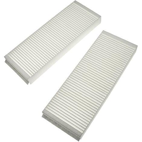 vhbw Lot de filtres remplacement pour Zehnder 527003440 pour appareil de ventilation - Filtre à air G4 / F7 (2 pcs), 48 x 18 x 10 cm, blanc