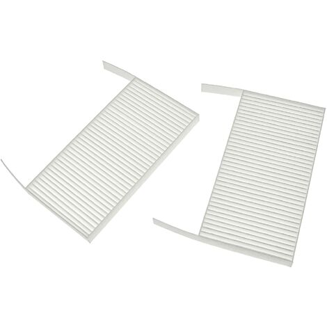 vhbw Lot de filtres remplacement pour Zehnder 527005190 pour appareil de ventilation - Filtre à air G4 / F7 (2 pcs), 19 x 10 x 3 cm, blanc