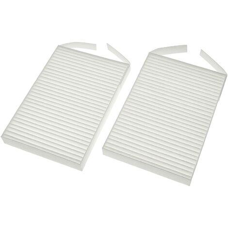 vhbw Lot de filtres remplacement pour Zehnder 527005400 pour appareil de ventilation - Filtre à air G4 / F7 (2 pcs), 18 x 12 x 4 cm, blanc