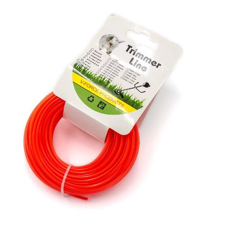 2.4 mm Durchmesser 15 m Rasentrimmer Trimmer Brush Cutter Pro Schnur Line rot
