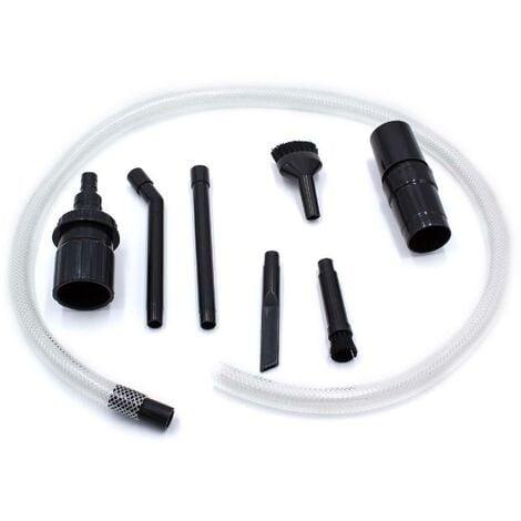vhbw micro embout universel d´aspirateur set 8 parties pour aspirateur Philips, AEG, Electrolux, Dirt Devil, Rowenta, DeLonghi, Miele, Bosch, Siemens