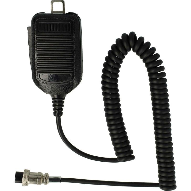vhbw Microphone à haut-parleur avec câble en spirale, bouton de fonction PPT pour iCOM IC-120, IC-1275, IC-229, IC-25, IC-271, IC-275, IC-28, IC-290