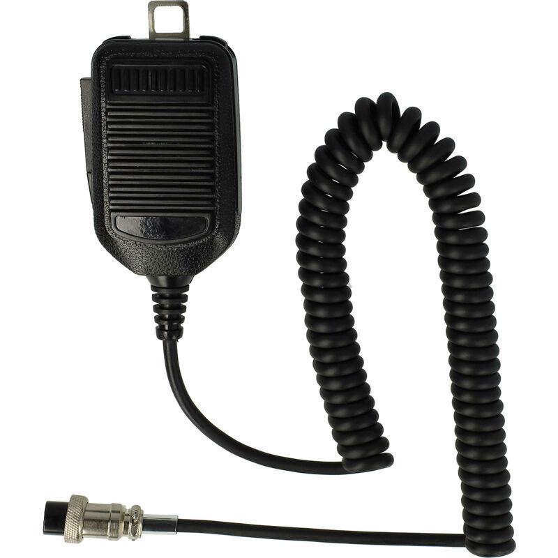 Microphone haut-parleur compatible avec Icom IC-45, IC-451, IC-471, IC-475, IC-48, IC-505, IC-574, IC-575, IC-707, IC-718 radio - Vhbw
