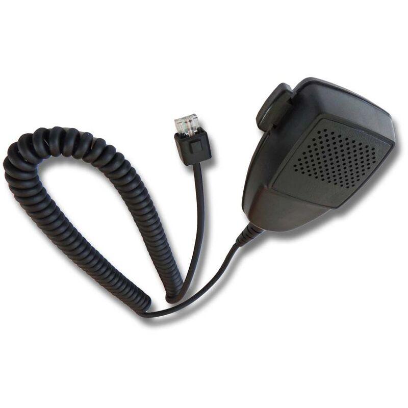 vhbw Microphone haut-parleur compatible avec Motorola M200, M300, M400, M860, Série Maratrac, Série Maxtrac, MC2100, MC900, MCS2000 radio