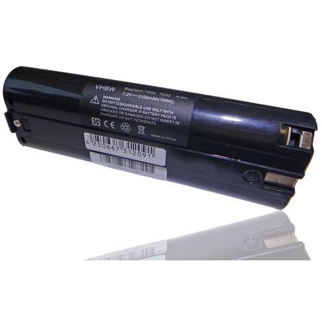 vhbw Ni-MH battery 2100mAh (7.2V) for Makita 4307DW, 4770D, 6002D, 6002DW, 6002DWK as Einhell 91011, Makita 191679-9, 192532-2, 192695-4.