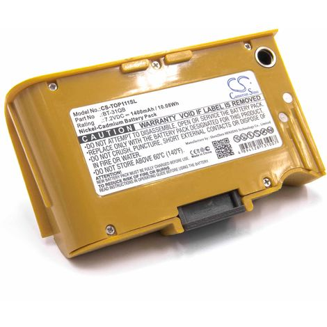 vhbw NiMH Akku 1400mAh (7.2V) für Messgerät Multimeter Topcon 101C, 111C