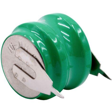vhbw NiMH Batería de botón de repuesto (2x celdas) Tipo V80H 2 pines 80mAh 2.4V compatible para lámparas solares, etc.