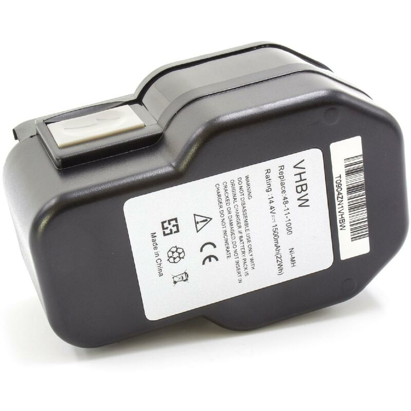 NiMH batterie 1500mAh (14.4V) pour outil électrique outil Powertools Tools Milwaukee 0612-22, 0612-26, 0613-20, 0613-24, 0614-20, 0614-24 - Vhbw
