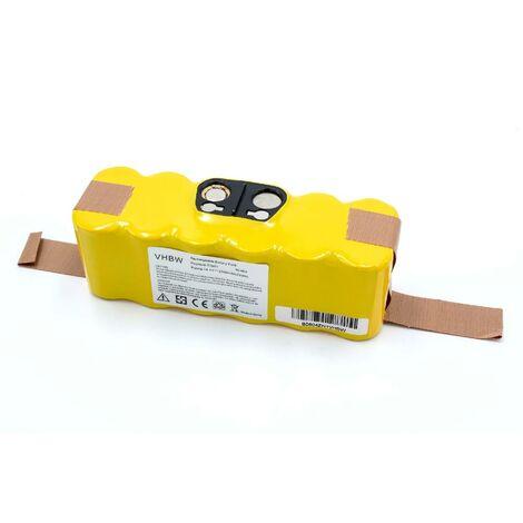 vhbw NiMH Batterie 2000mAh (14.4V) compatible avec iRobot Roomba 876, 882, 882E, 886, 900, 960, 980, APS 500, R3 remplace 11702, VAC-500NMH-33.