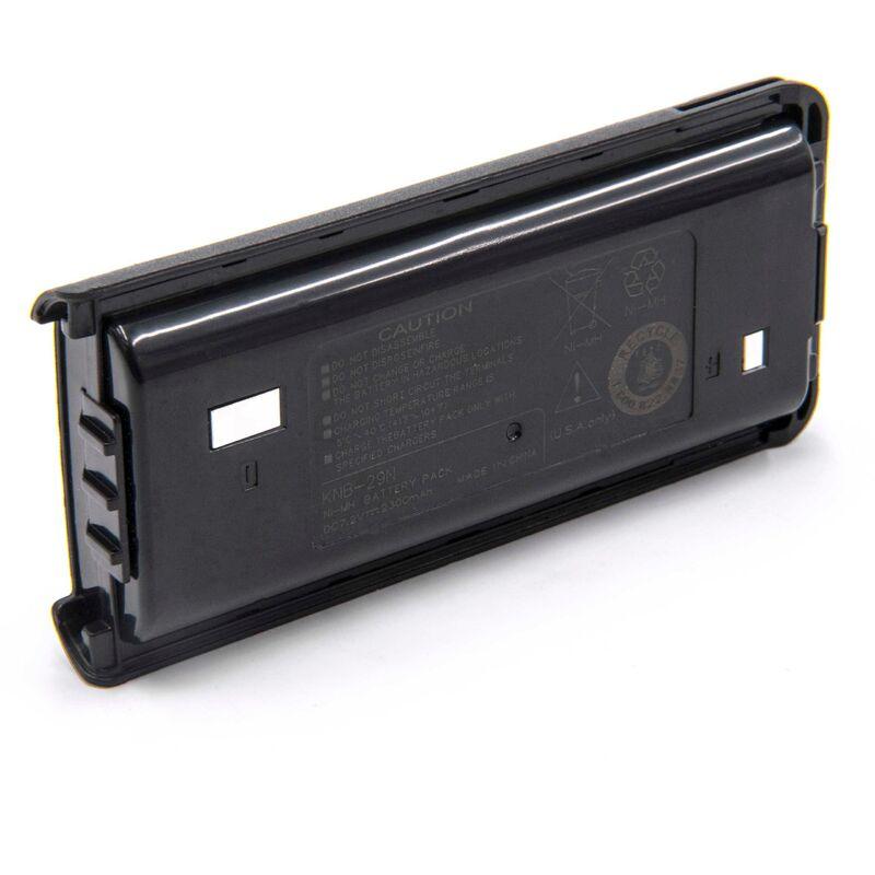 vhbw NiMH batterie 2300mAh (7.2V) pour radio talkie-walkie Kenwood TK-3202, TK-3202E, TK-3202E3, TK-3202UK, TK-3206M, TK-3206M3, TK-3207