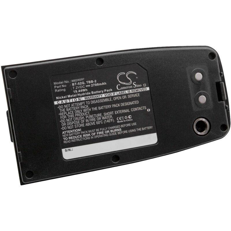 NiMH batterie 2700mAh (7.2V) pour appareil de mesure Topcon GPT3200, GRS-245NW, GTS-100N, GTS-102N, GTS-102R, GTS-200, GTS-210, GTS-220 - Vhbw