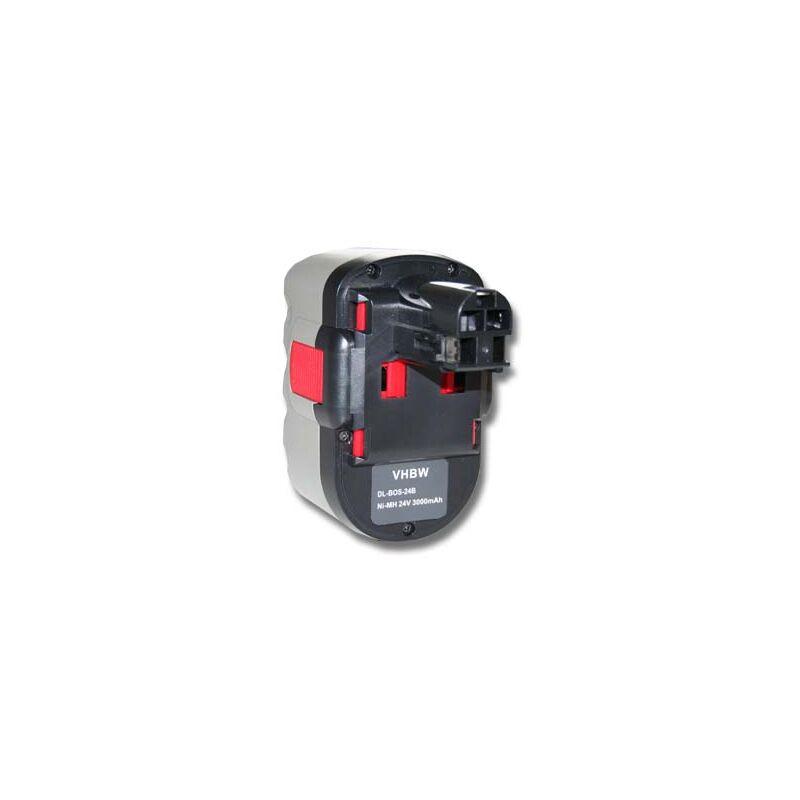 vhbw NiMH batterie 3000mAh (24V) pour outil électrique outil Powertools Tools Bosch GKS 24V, GLI 24V, GMC 24V, GSA 24V, GSA 24VE, GSB 24 VE-2