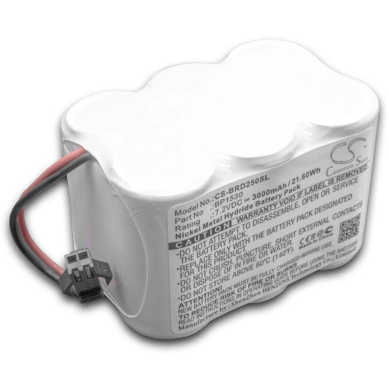 vhbw NiMH batterie 3000mAh (7.2V) pour appareil de mesure comme Horizon BP1530