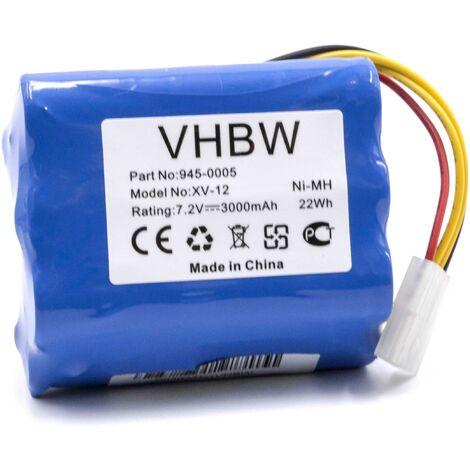 vhbw NiMH batterie 3000mAh (7.2V) pour robot aspirateur robots domestiques Neato Signature Pro, XV Essential, XV-11, XV-12, XV-14, XV-15, XV-21, XV-25