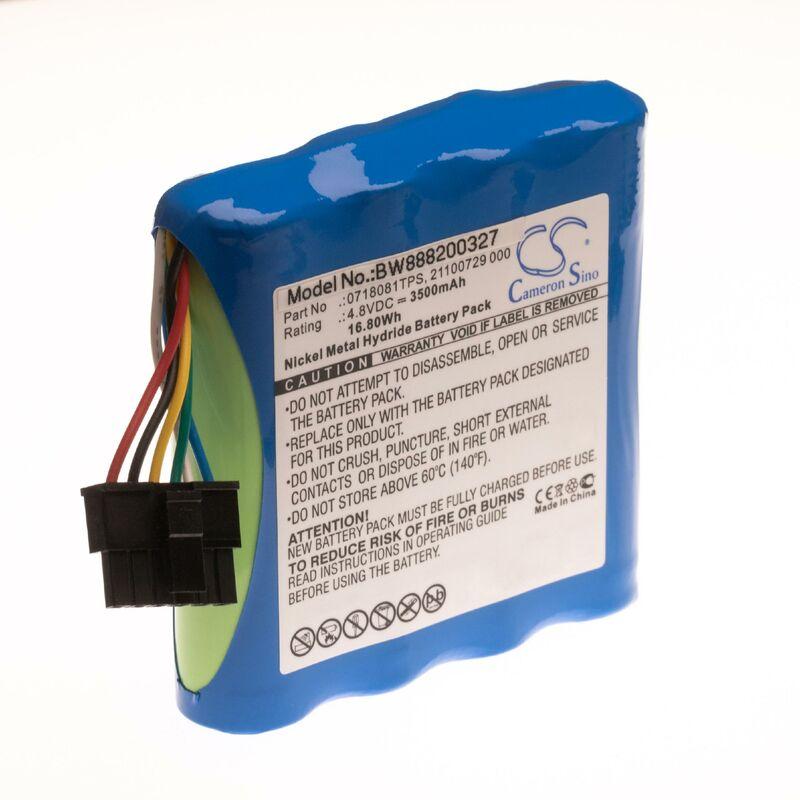 NiMH batterie 3500mAh (4.8V) pour appareil de mesure OTDR fibre optique comme JDSU 0718081TPS, 21100729 000 - Vhbw