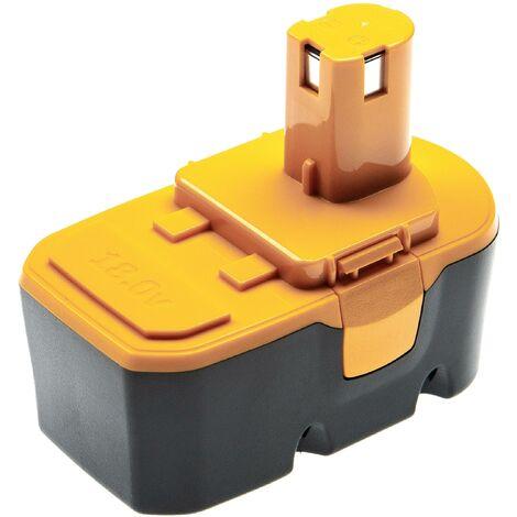 vhbw NiMH battery 1300mAh (18V) for electric power tools Ryobi P234, P240, P2400, P241, P246, P250, P2500, P2600, P300, P301