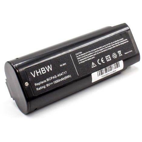 vhbw NiMH battery 1500mAh (6V) for electric power tools Paslode IM350 Nail Gun, IM350/90 CT, IM350A, IM350ct, IM45 CW