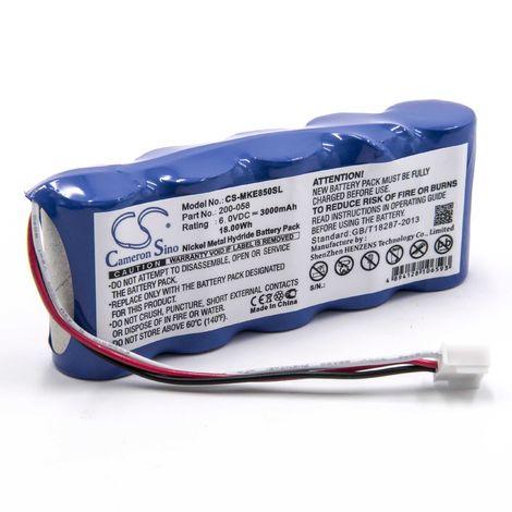 vhbw NiMH battery 3000mAh (6V) for measuring device Olympus (Panametrics) Magna Mike 8500 replaces 200-058.
