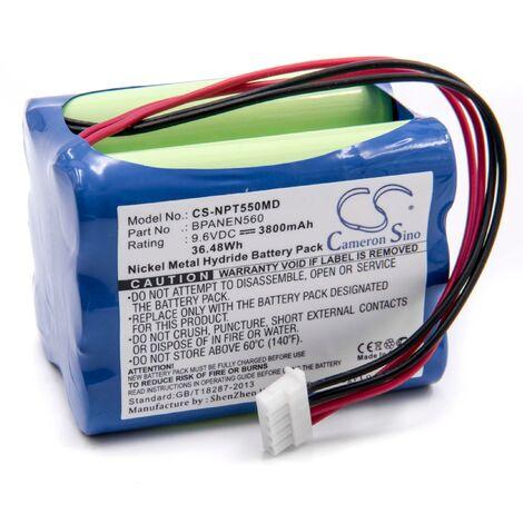 vhbw NiMH battery 3800mAh (9.6V) for Nellcor Puritan Bennett N-550B Pulse Oximeter,N-560 Pulse Oximeter,N550B,N560 replaces BPANEN560,069308,EE090298