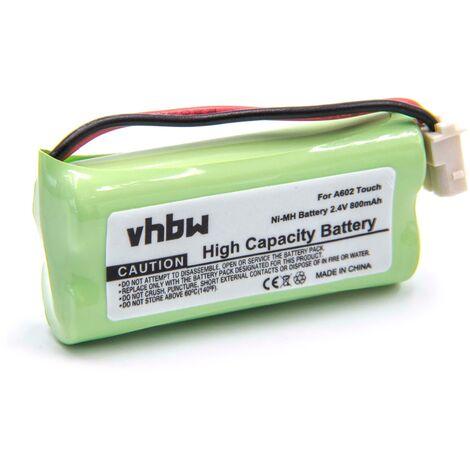 vhbw NiMH battery 800mAh (2.4V) for baby phone, baby monitor V-Tech DM221, DM222