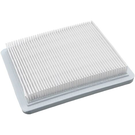vhbw Paper Air Filter 13,2 x 11,5 x 2,1cm white compatible with Briggs & Stratton120600, 120H00, 120K00, 121000, 121200, 121300, 121400 Lawn Mower