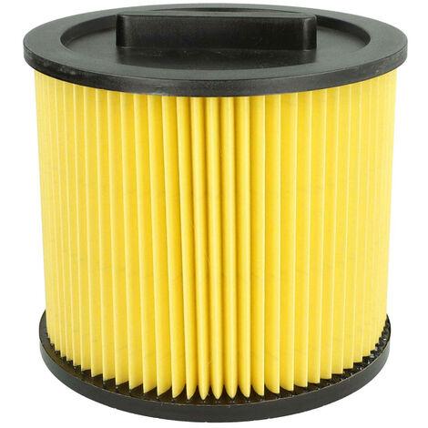 vhbw Patronen-Filter passend für Staubsauger, Saugroboter, Mehrzwecksauger Einhell TE-VC 1820, TE-VC 1925 SA, TE-VC 2230 SA, TE-VC 2340 SA