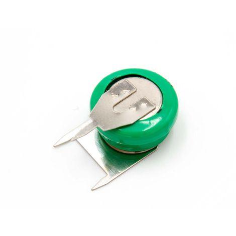 vhbw Pilas botón, tipo de batería V40H (NiMH, 40mAh, 1.2V) -1 celda, conector impresión de 3 pines, recargable