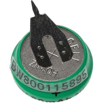 vhbw Pilas botón, tipo de batería V80H (NiMH, 80mAh, 1.2V) -1 celda, conector impresión de 2 pines, recargable