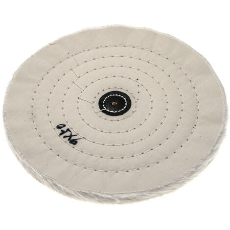 vhbw Polishing Pad for all Standard Angle Grinders, Screwdrivers - Spare Pad with 21.5cm Diameter, cream, cotton